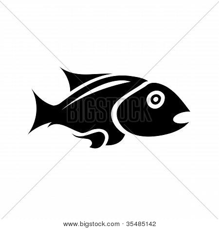 Black Isolated Fish