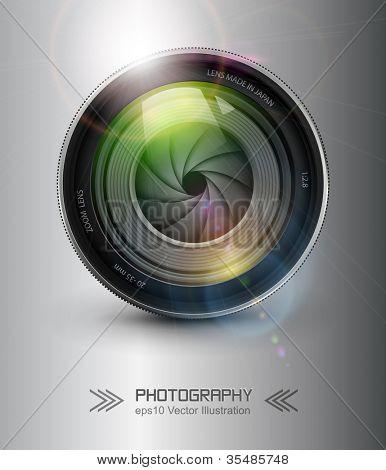 Fondo de fotografía, cámara de foto con la llamarada.