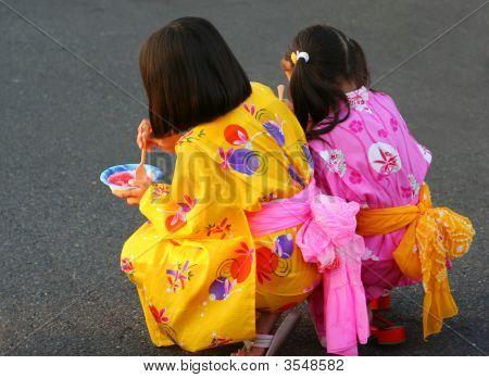 Friends In Kimonos