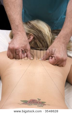 Woman Having Massge