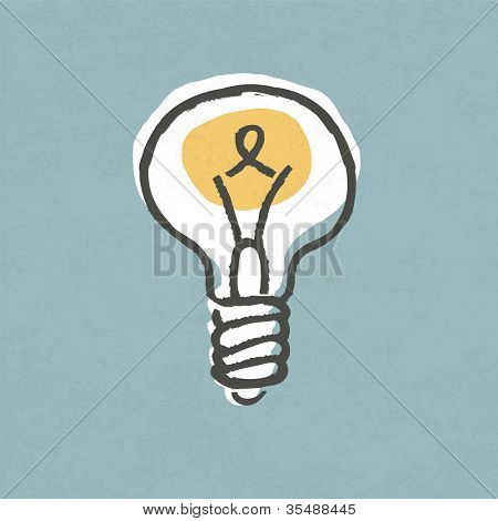 Lightbulb illustration. Creative idea symbol concept. Raster version.