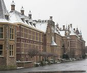 Dutch Governement Buildings Covered With Snow poster