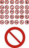 Постер, плакат: Запрещенные знаки