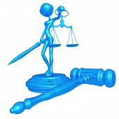 stock photo of justice law  - A Concept And Presentation Figure in 3D - JPG