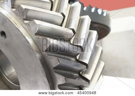 Strong Steel Gear Close-up