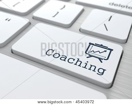 "Business Concept. ""Coaching"" Button."