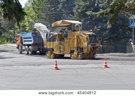 Repair Work On The Road.