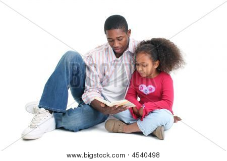 Father Daughter Reading