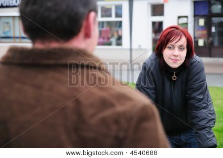 Young Couple On Street