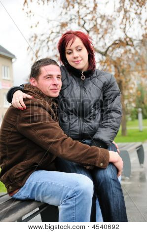 Romantic Young Couple In Love