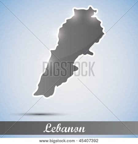 shiny icon in form of Lebanon
