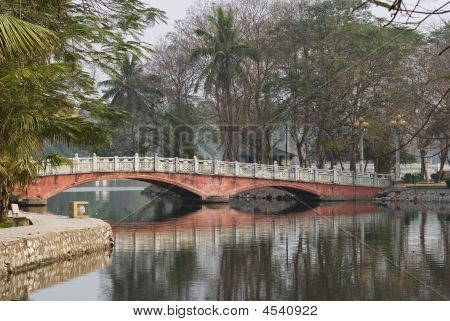 Pink Bridge In Hanoi