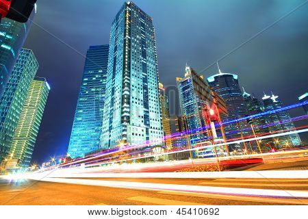 Shanghai Lujiazui Finance & City Buildings Urban Night Landscape