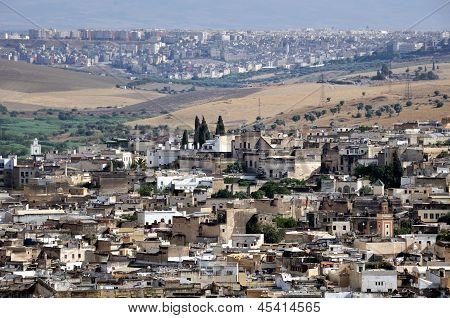 Vista da medina de Fez (antiga cidade de Fes)
