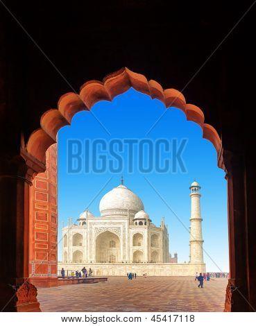 India Taj Mahal. Indian palace Tajmahal