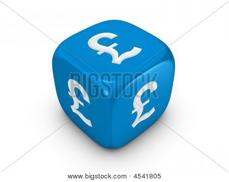 Blue Dice With Pound Sign
