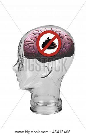No poop brain.