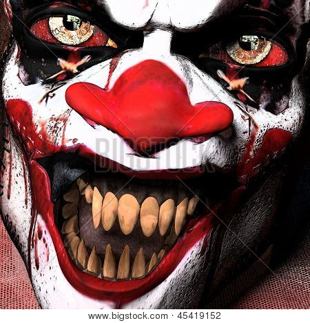 Scarier Clown Close-up