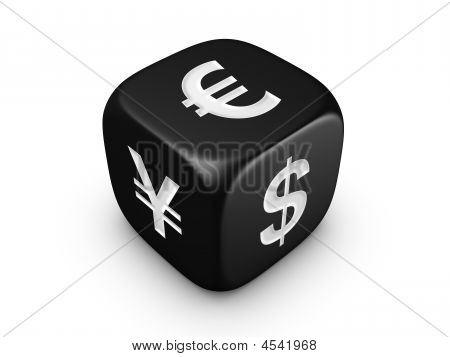 Black Dice With Curreny Sign