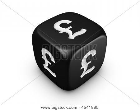 Black Dice With Pound Sign