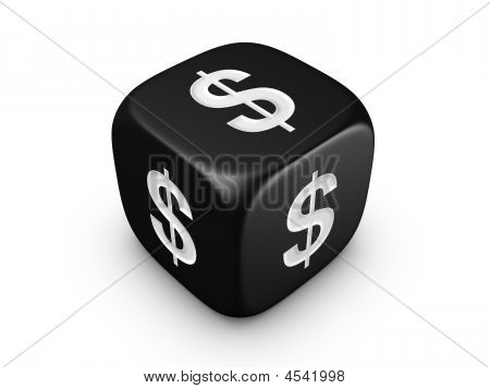 Black Dice With Dollar Sign