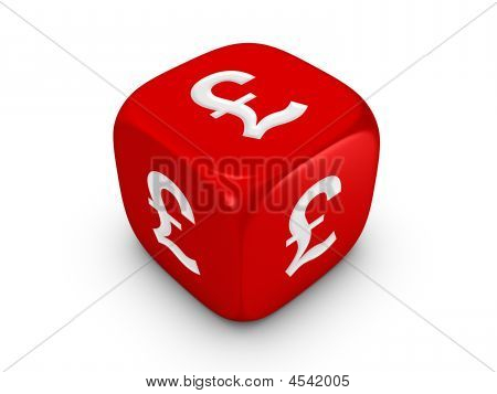 Red Dice With Pound Sign
