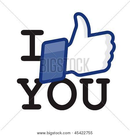Like/Thumbs Up symbol icon - I like you