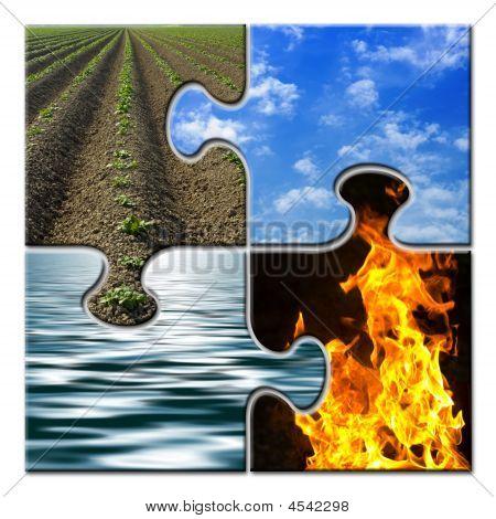 Four Elements Closed Puzzle