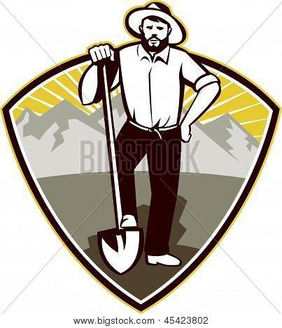 gold digger miner prospector shovel