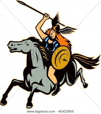 Valkyrie riding horse
