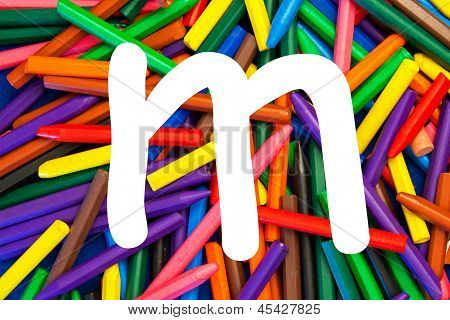 Letter M - Alphabet - Lower Case - Education / Schools / Teaching.