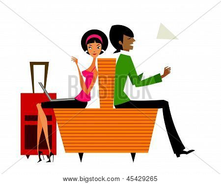 Sitting Couple