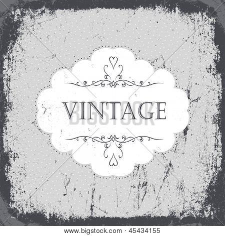 Vintage grunge card in monochrome gamut. Vector