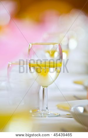 Toast Drink On A Wedding Or Reception Table