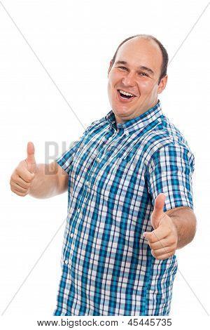 Ecstatic Man Thumbs Up