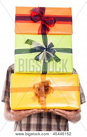Generous Man Carrying Gifts