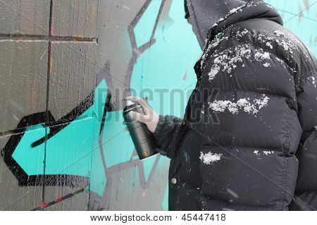 graffiti artist street art