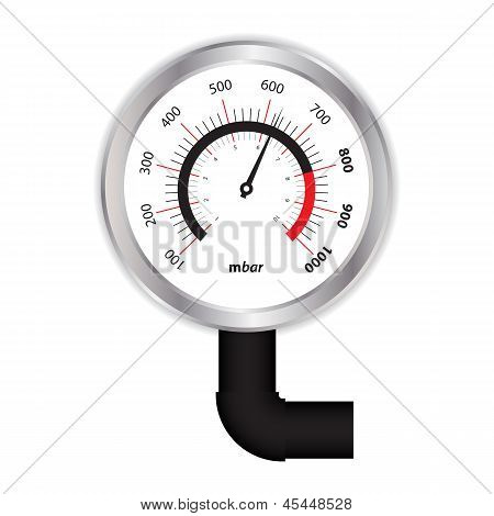 Special Manometer On White Background