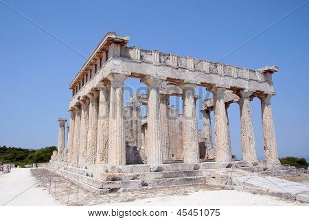 Temple Of Aphaia In Aegina