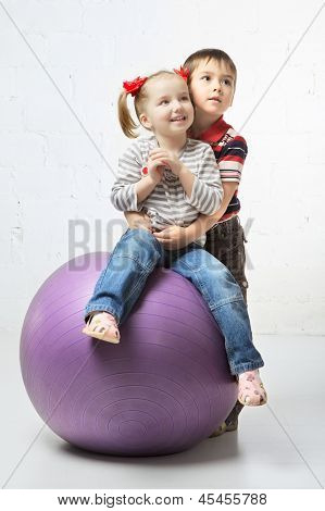 Children With Ball