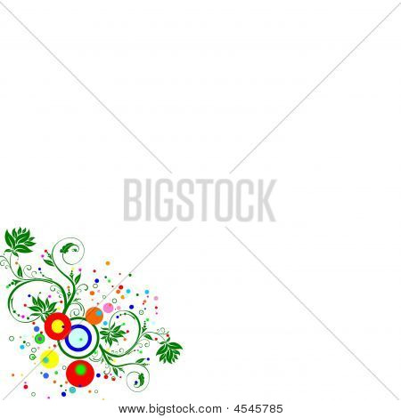 Multicolour Floral Spring Background