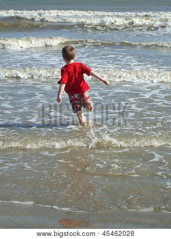 Boy Running Carefree