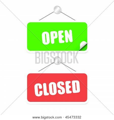 Open And Closed Tag Vector