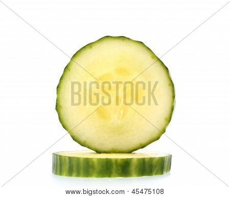 Two Slice Of Fresh Cucumber