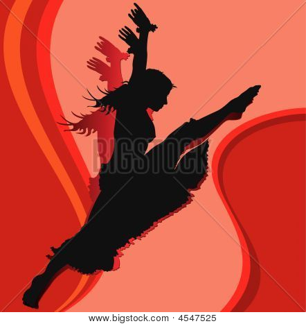 Dancing Girl In Red
