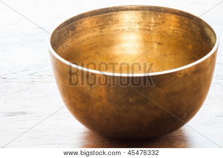 Vintage Brass Bowl For Special Tradition Ceremony