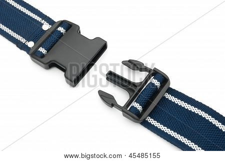 Male And Female Buckles On White Background