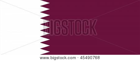 Flag Of Qatar.