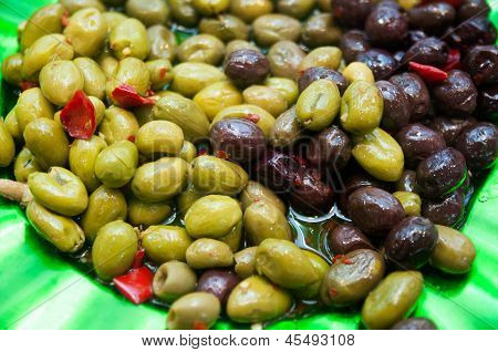 Olives-marinated