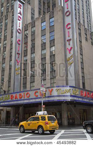 Radio City Music Hall In New York City. Vertically.